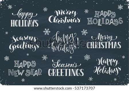 Happy Holidays - Download Free Vector Art, Stock Graphics  Images - chalkboard writing template