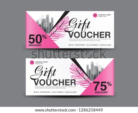 abstract sale and discount coupon voucher for business promotion