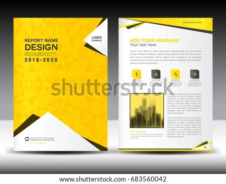 yellow and black business brochure design template - Download Free - advertisement brochure