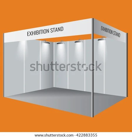 Illustrated unique creative exhibition stand display design Booth