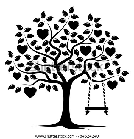 Free tree with heart - Download Free Vector Art, Stock Graphics  Images