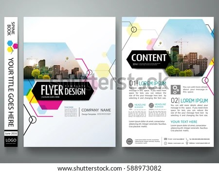 company business flyer poster brochure design template in size A