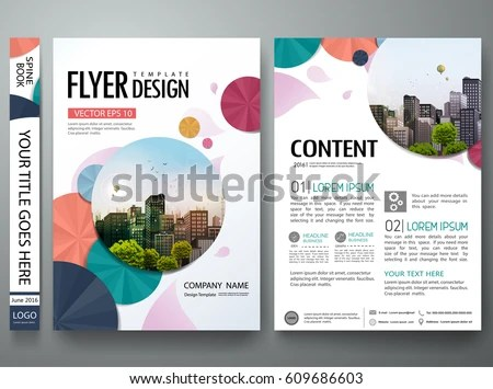 modern company business flyer brochure design with minimal shape