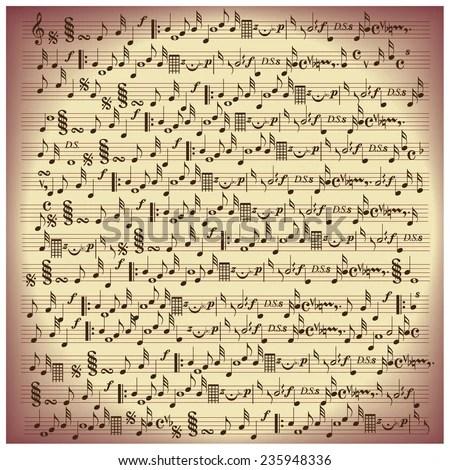 vintage music notes paper EZ Canvas