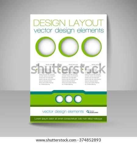 Template of flyer for business brochures, presentations, websites