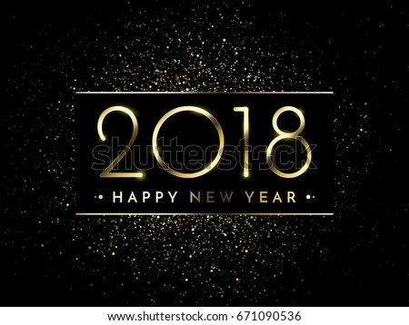 Happy New Year Greeting Card Template - Download Free Vector Art