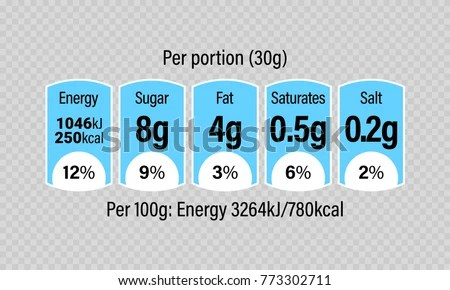 Nutrition Facts Label Vector Templates - Download Free Vector Art