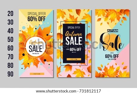Fall and Autumn Card Vector Templates - Download Free Vector Art
