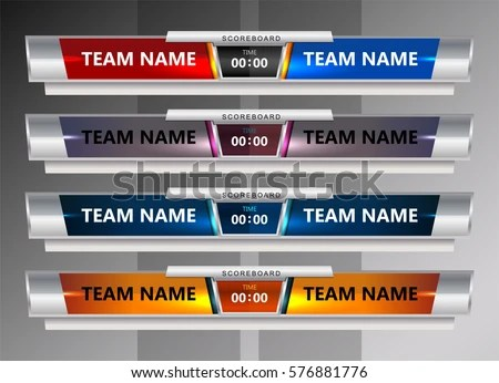 Vector Images, Illustrations and Cliparts Scoreboard Broadcast