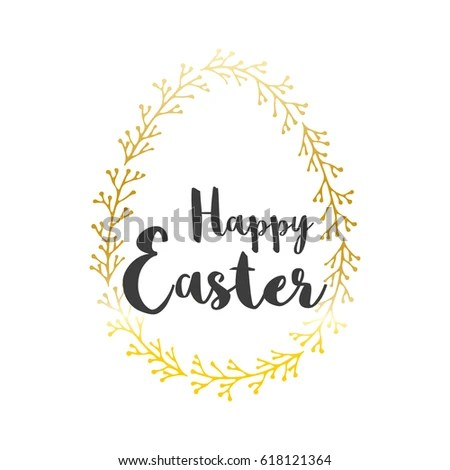 Colorful Happy Easter greeting card with text Postcard templates