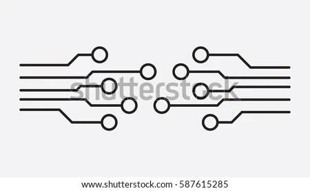 Electronic Circuit Symbol Vectors - Download Free Vector Art, Stock