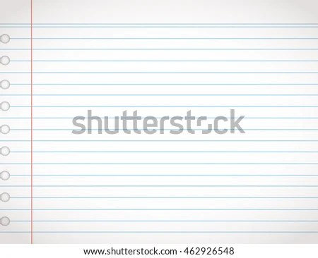 Notebook Lined Paper Background Or Texture EZ Canvas