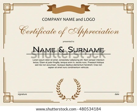 elegant diploma certificate of appreciation template - Download Free - certificate of appreciation
