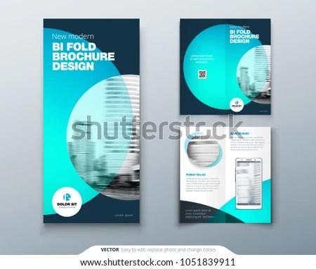 Modern Two-Fold Brochure Template - Download Free Vector Art, Stock - two fold brochure