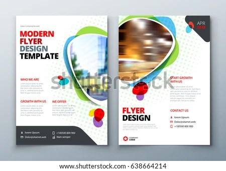 modern red business presentation flyer template - Download Free