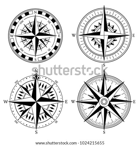 Compass Rose Collection - Download Free Vector Art, Stock Graphics