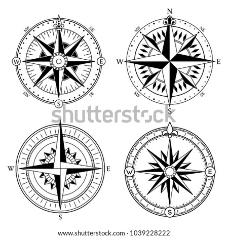 Vintage Compass Illustration - Download Free Vector Art, Stock