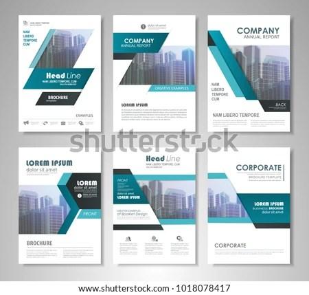blue business annual report brochure template presentation