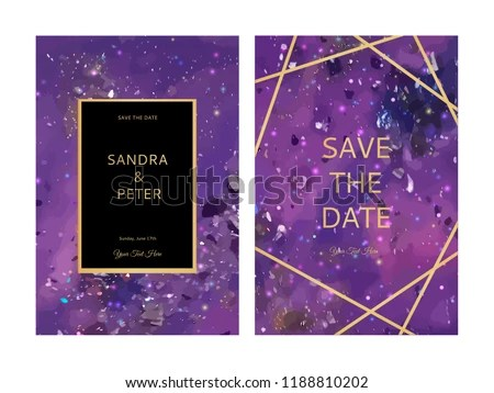 Ultra Violet Galactic Background Free Vector - Download Free Vector