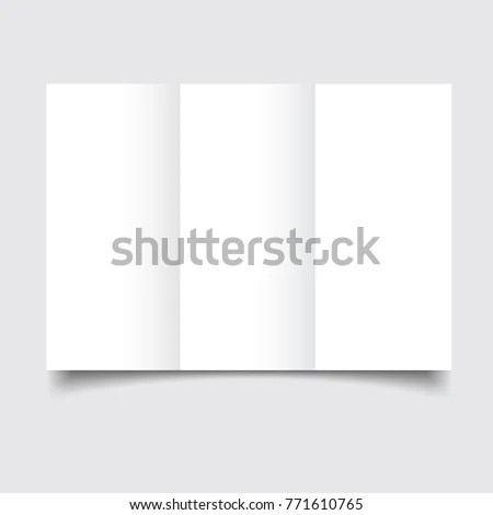 Blank brochure template with paper bends and soft shadows Blank
