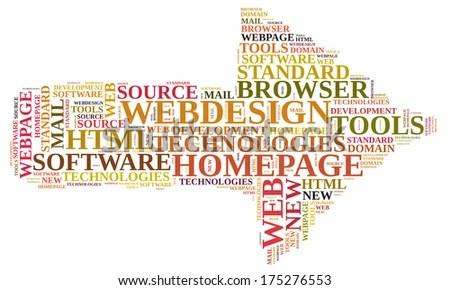 Webdesign word cloud EZ Canvas