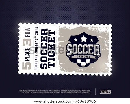 Soccer Ticket - Download Free Vector Art, Stock Graphics  Images