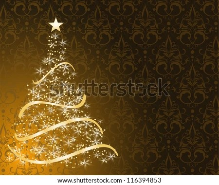 Free Vector Christmas Tree Background - Download Free Vector Art