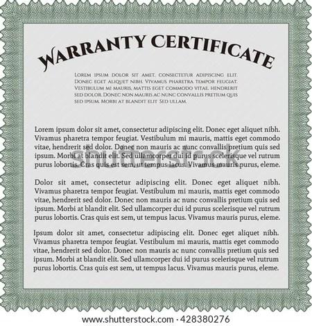Royalty-free Sample Warranty certificate template\u2026 #431973724 Stock