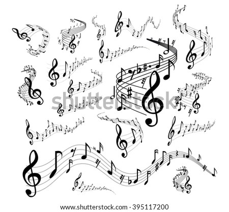 Musical staves on white EZ Canvas
