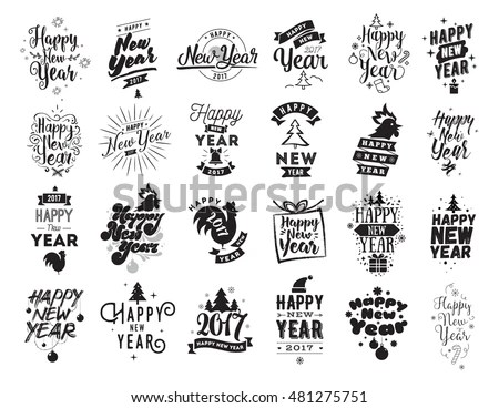 Happy New Year 2018 Vector Set - Download Free Vector Art, Stock