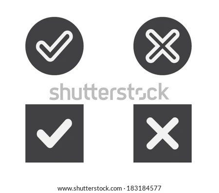 Tick Vector Icon - Download Free Vector Art, Stock Graphics  Images