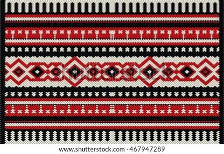 Traditional Arabian Sadu Pattern Carpet Free Image