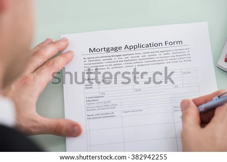 Free photos Close up of a blank form - mortgage loan application