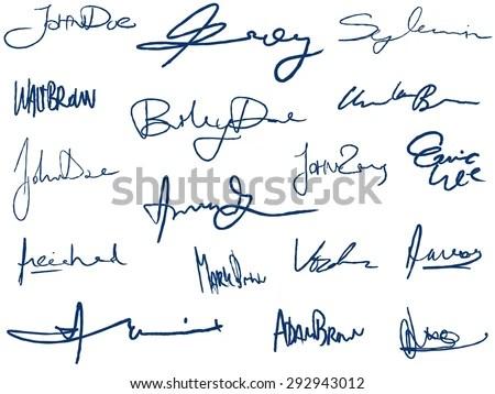 Bushra 3d Name Wallpaper Set Of Imaginary Signature Vector Stock Photo 65805616