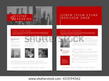 elegant company leaflet business brochure vector template design - sample business brochure