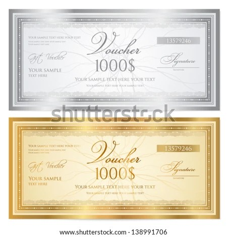 Vector Images, Illustrations and Cliparts Voucher template with