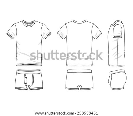 Basic T-Shirt Template - Download Free Vector Art, Stock Graphics - blank fashion design templates