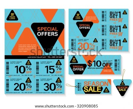 Sale Flyer, Promotions Coupon Or Banner Design With Best Discount - coupon flyer