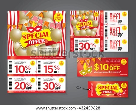 best sale discount and advertising banner voucher template desig - coupon flyer template