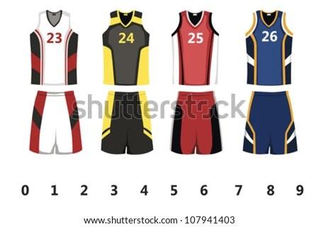 Basketball Sports Jersey Vectors - Download Free Vector Art, Stock