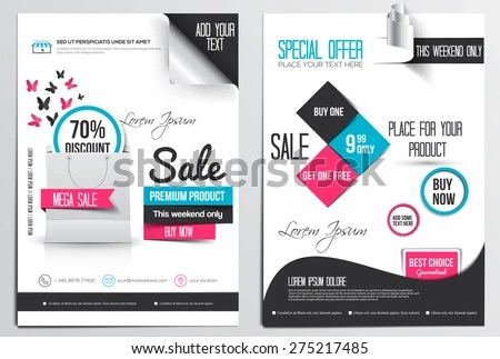 sale discount banner, poster or flyer template - Download Free