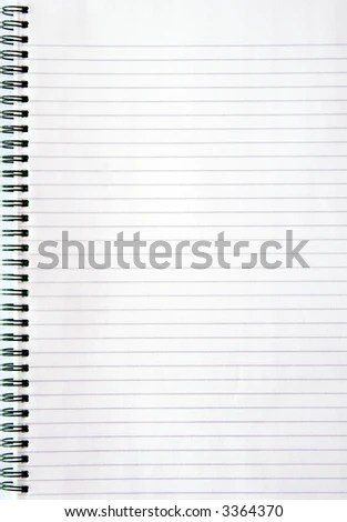 Blank Lined Page - printing on lined paper