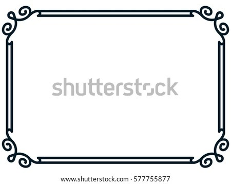 Page Border Line Vectors - Download Free Vector Art, Stock Graphics