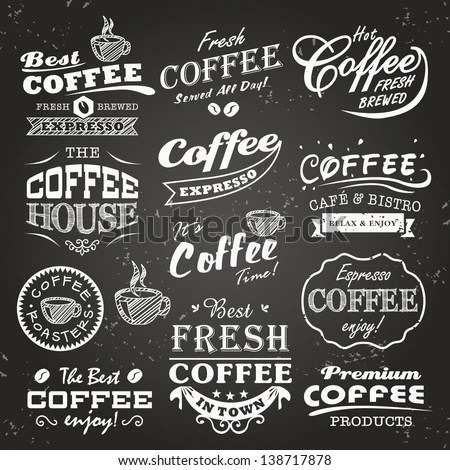 Logos and badges Wouldnu0027t have to be  - coffee menu