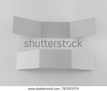 tri-fold card or flyer mock-up 3D rendering EZ Canvas