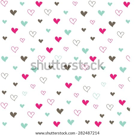 Cute Love Background - Download Free Vector Art, Stock Graphics  Images
