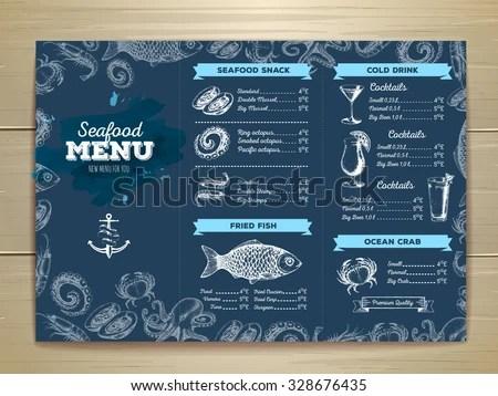 Seafood Menu Templates - Download Free Vector Art, Stock Graphics