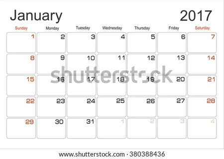 Monthly Calendar January 2018 - Download Free Vector Art, Stock - monthly planning calendar