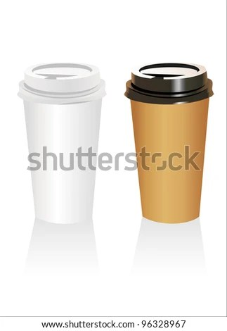 Plastic coffee cup templates over white background EZ Canvas