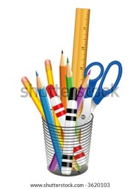 Vector Writing & Drawing Tools In Desk Organizer For ...